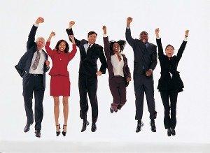 Happy Job Seekers Employees
